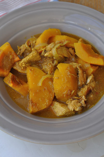 Morrocan Chicken in Large Bowl
