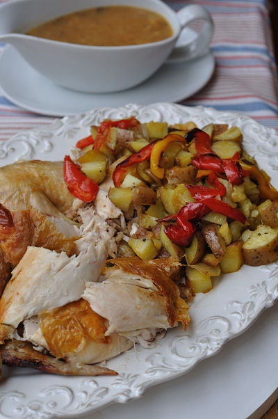 Chicken with rustic potatoes