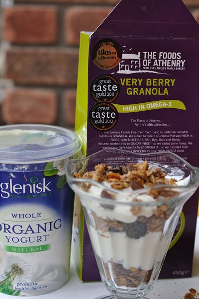 Layered Very Berry Granola with Glenisk