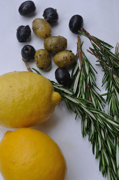 Lemons Rosemary and Olives