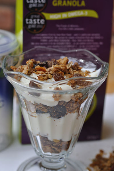 Very Berry Granola in glass