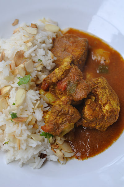 Chicken Curry with Coconut Rice