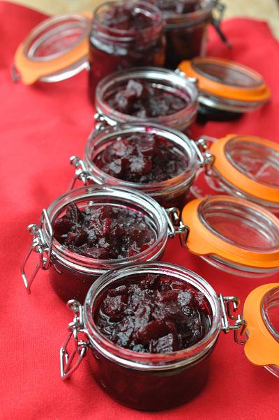 Beetroot Relish jars