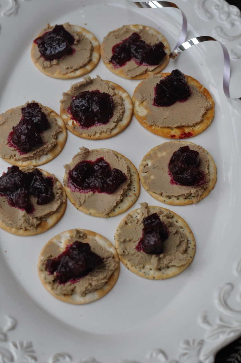 Beetroot Relish Pate Crackers