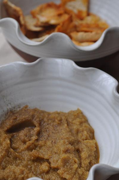 Aubergine Dip & Pita Chips