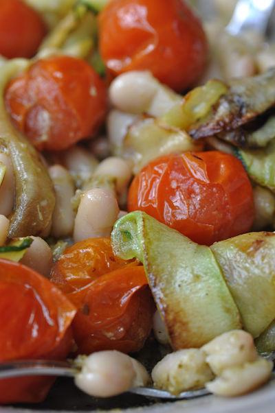 Cannellini Bean Pesto Salad