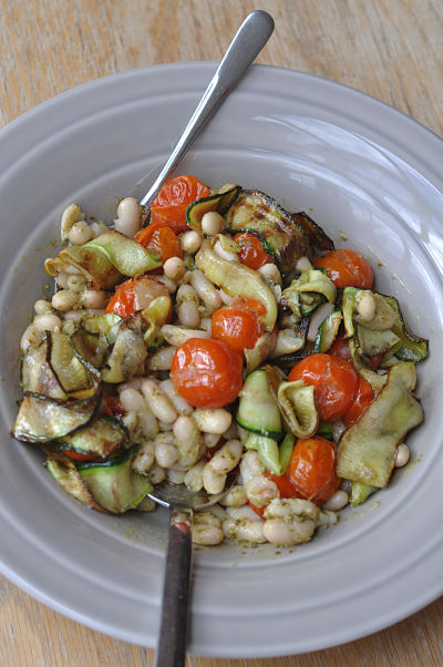 Cannellini Bean & Pesto Salad