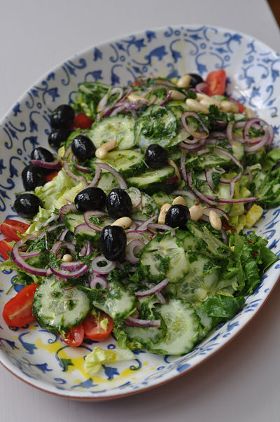 Jamie Oliver S Modern Greek Salad Gimme The Recipe