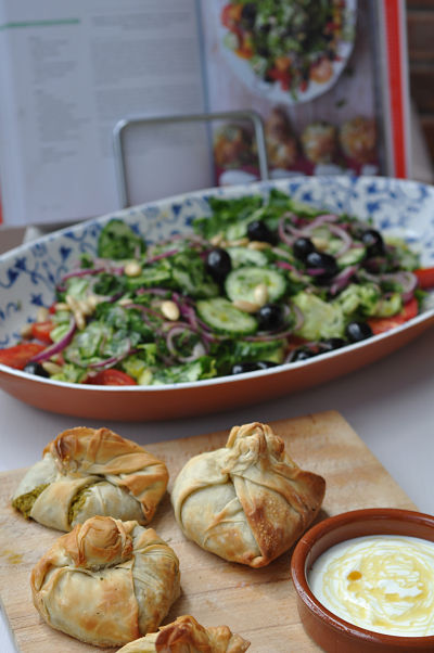Jamie Oliver Salad & Parcels with book