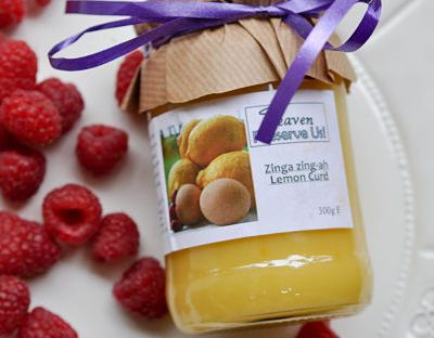 Heaven Preserve Us Lemon Curd Jar of