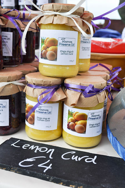 Heaven Preserve Us Lemon Curd jars