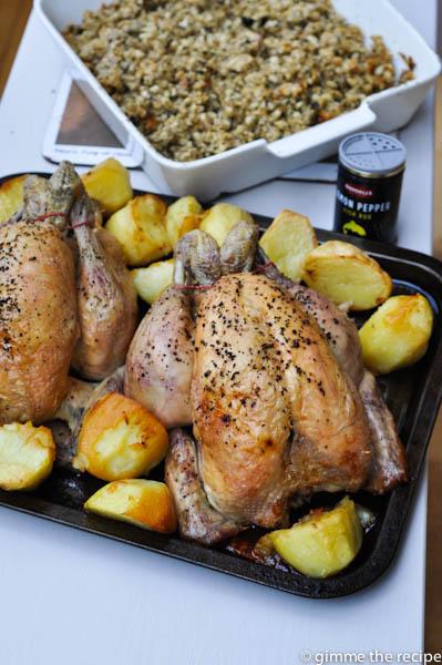 Chickens roast