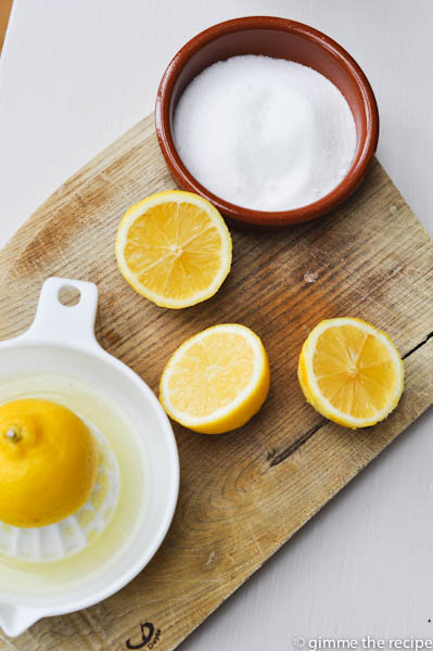 Lemon Juice and sugar for drizzle