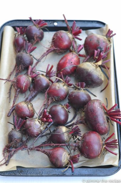 Beetroot on tray