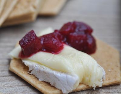 lara beetroot chutney on cracker