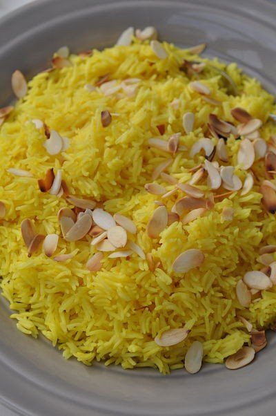 Turmeric Rice & Toasted Almonds