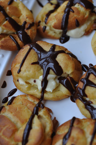 Cloudberry filled Choux Bun