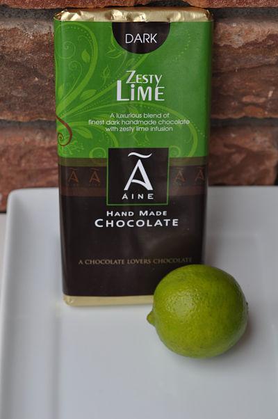 Aine Zesty Lime Dark Chocolate Bar