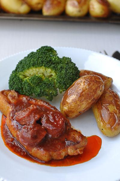 Pork & Patatas Bravas Close-Up