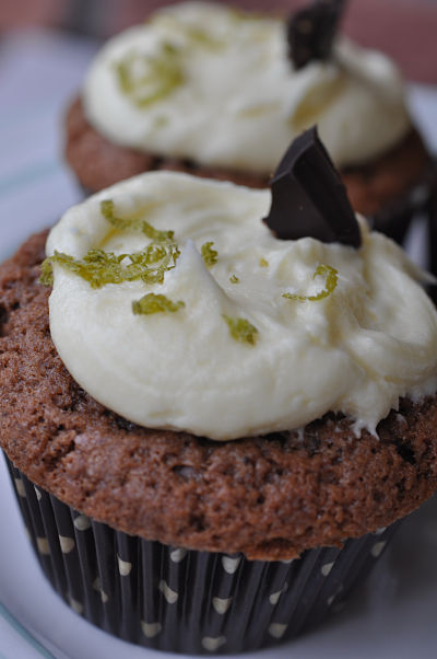 Zest Lime Choc Cupcake Upclose
