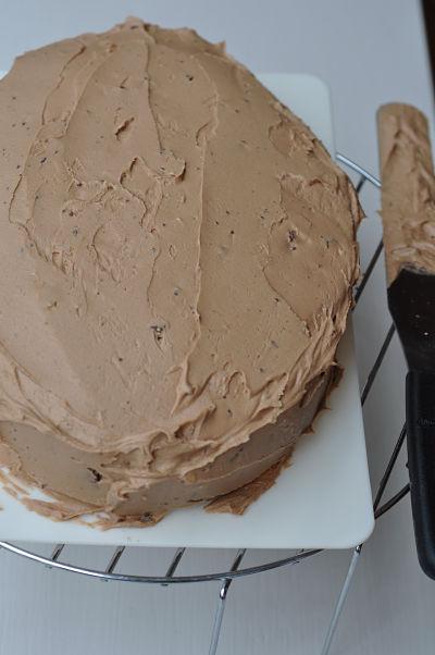 Buttercream on cake