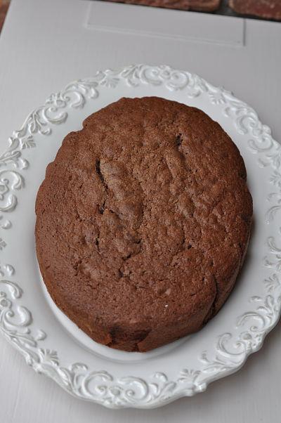 Oval Shaped Chocolate Cake