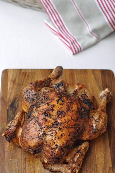 Paprika and garlic roast chicken