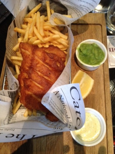 The Punchbowl fish and chips