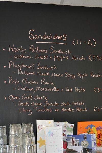 Delicious sandwich menu at Along the Way, Goleen