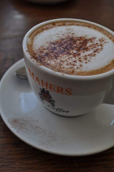 Excellent Mahers coffee at Along the Way, Goleen