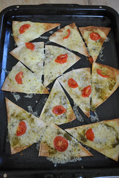 pizzini cooked on tray
