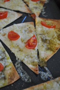 pizzzini slice close up
