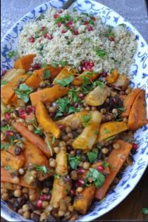 Veg Tagine and Bulghar Wheat
