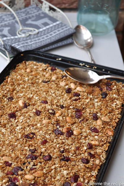 Christmas Granola Tray