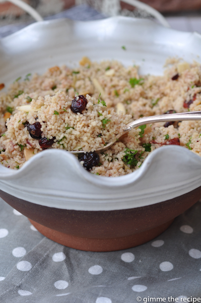 Spiced Cranberry Christmas Couscous
