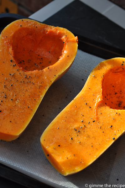 Butternut Squash oiled and seasoned