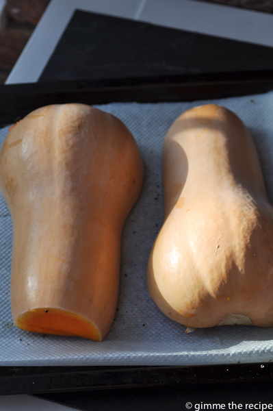 Butternut Squash ready for oven