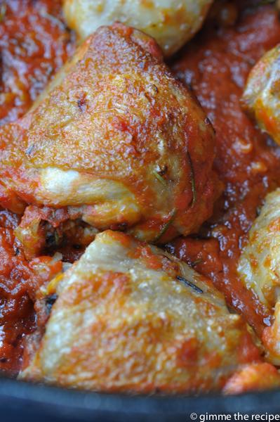 Chicken Rosemary and Garlic close-up