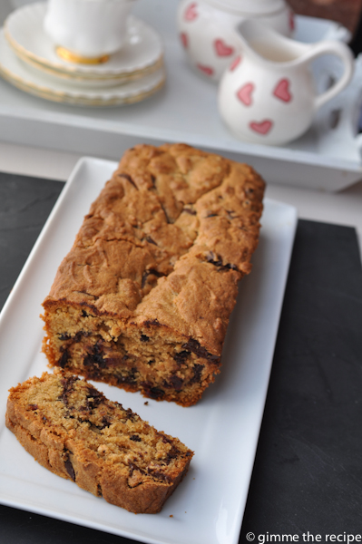 Choc Chip Loaf and Slice