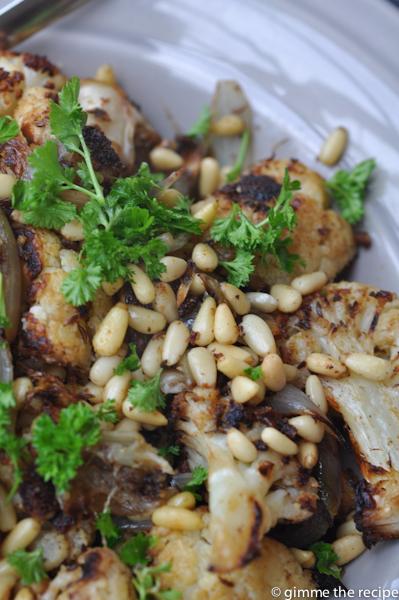 Roast cauliflower and shallot