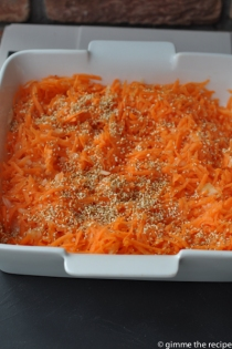 Carrot and sesame seed salad