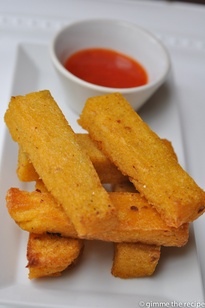 Cumin and Chilli Polenta Chips CloseUp