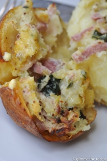 filling of oven baked potato