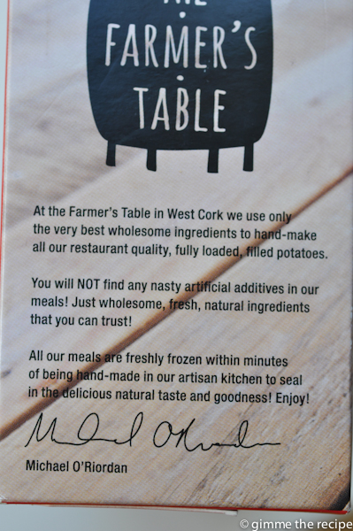 message from the farmer's table