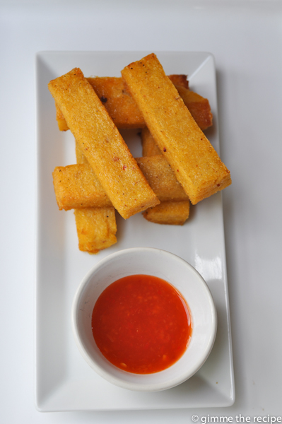Rebel Chilli Dip with Chunky Cumin and Chilli Polenta Chips