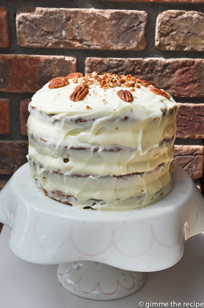 Hummingbird cake in light