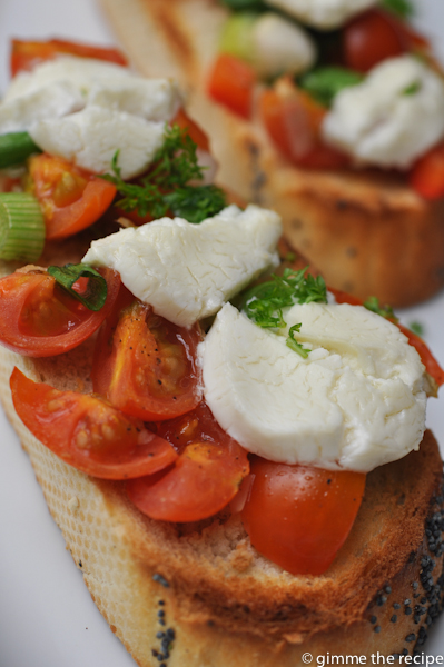 Bruschetta CloserUp