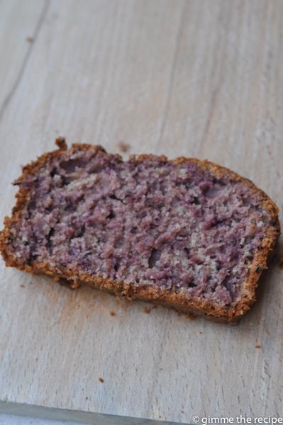 Blackberry & Apple Loaf Cake Slice