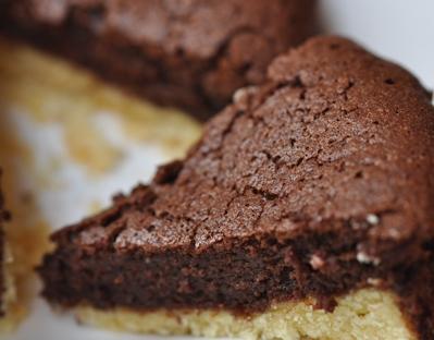 Chocolate tartlet bitesize close-up