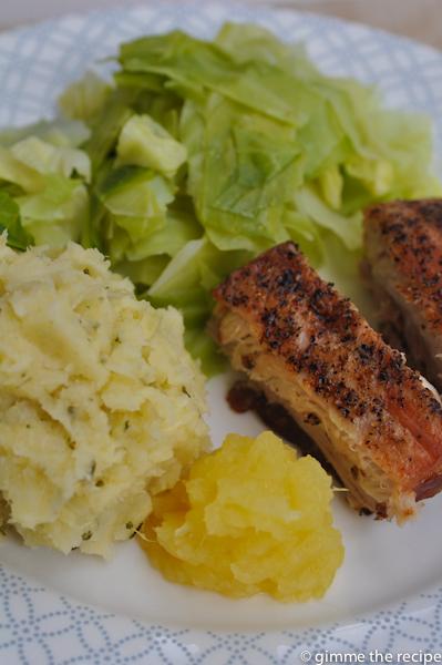 Mash Pork Belly & Cabbage